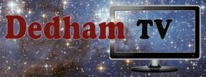 Dedham TV's hot new 21st Century logo. It literally sends us into orbit!