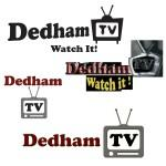 Various Dedham TV logos of the past. Note: the retro-TV graphic with antennae!