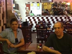Sixto and his wife Wendy. Very nice proprietors of the Old Havana Cuban Restaurant.