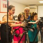 Summer Camps – Anne Instructs the Kids on a Camera Setup