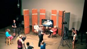 At Dedham Television's Summer Camps, kids get hands-on experience setting up actual shoots in our main studio.